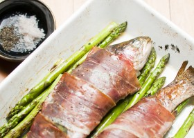 BACKGROUND trout prosciutto