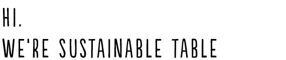 Hi sustainable table