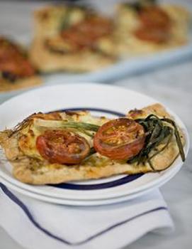 Fast Ed Tomato and leek tart