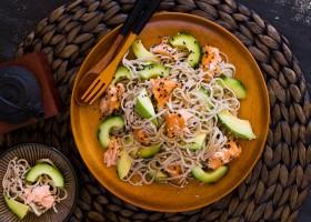 Smoked Salmon and Soba Noodle Salad
