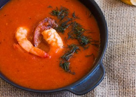 Spicy Roasted Capsicum and Tomato Soup