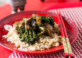 Tender Beef Stir-fry with Brown Rice