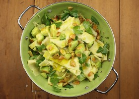 avocado ginger background